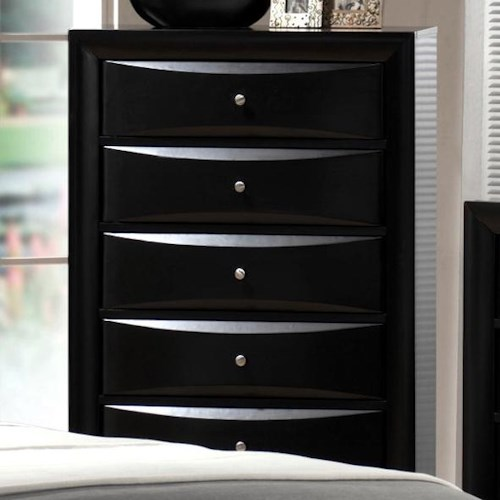 Crown Mark Emily Contemporary Chest with 5 Drawers
