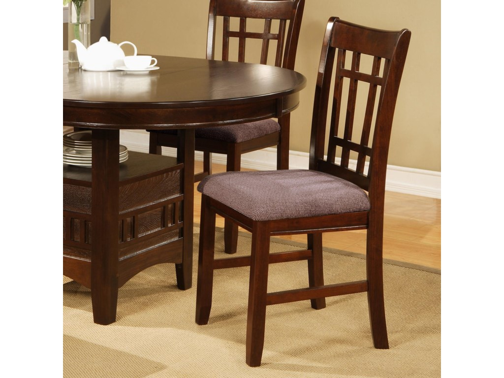 crown mark empire dining side chair with upholstered seat old brick furniture dining side chairs - Old Brick Dining Room Sets