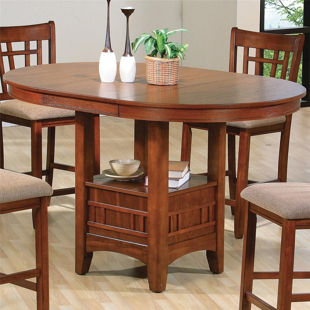 Charmant Crown Mark Empire Counter Height Dining Table With Pedestal Base