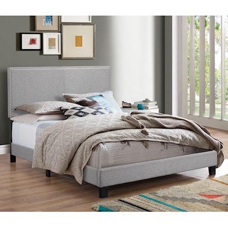 King Upholstered Headboard Bed