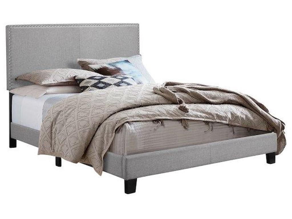 Royal Fair ErinTwin Upholstered Headboard Bed