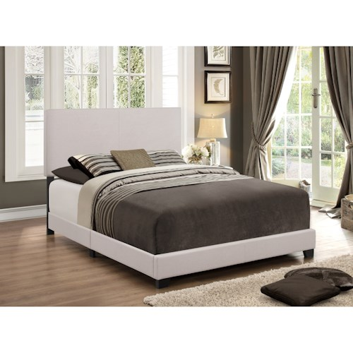 Crown Mark Erin Queen Upholstered Platform Bed