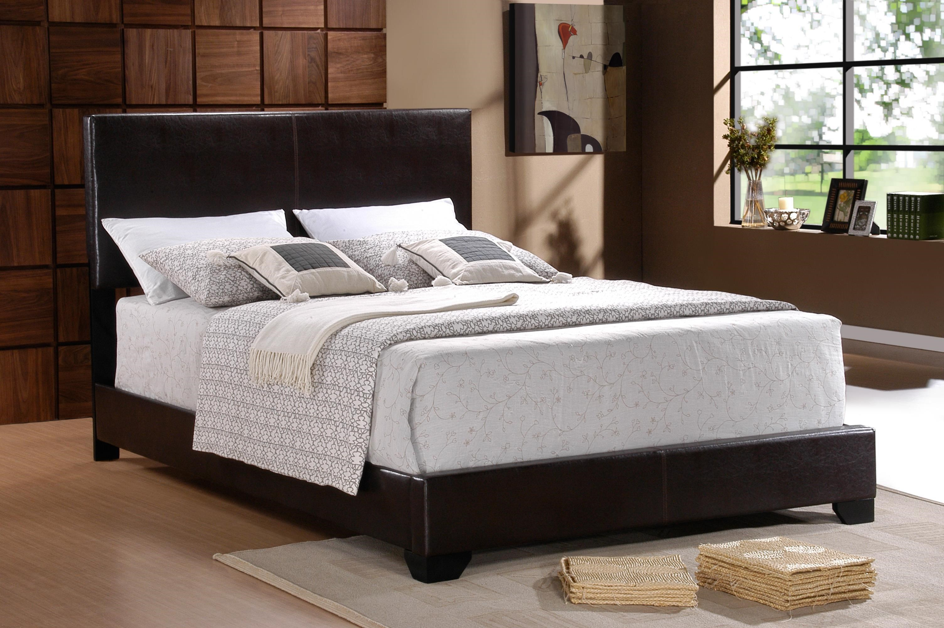 Picture of: Crown Mark Erin 5271pu T Faux Leather Twin Bed Sam Levitz Furniture Platform Beds Low Profile Beds