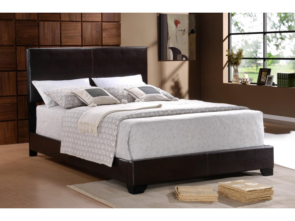 Crown Mark ErinFaux Leather Twin Bed