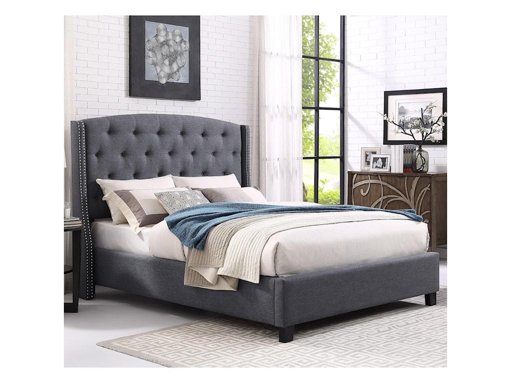 Crown Mark EvaUpholstered King Bed