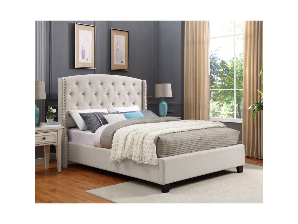 Crown Mark EvaUpholstered Queen Bed