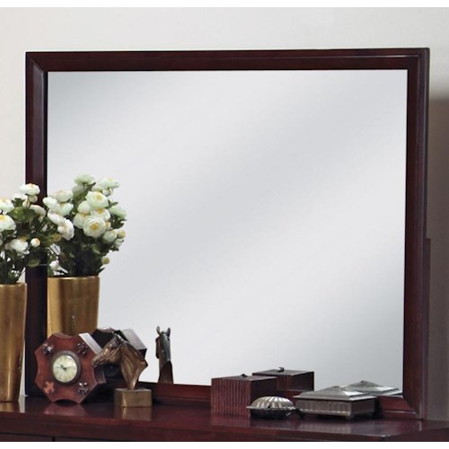 Crown Mark Evan Landscape Dresser Mirror