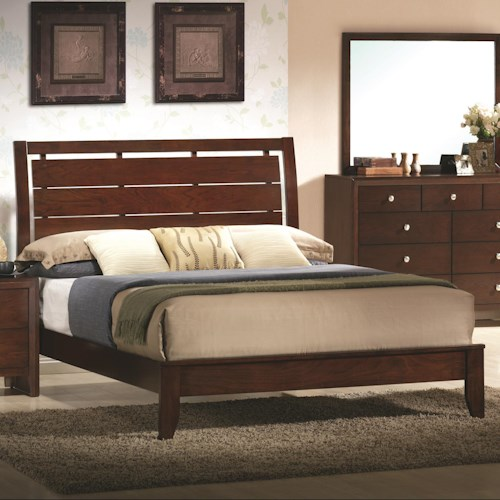 Crown Mark Evan Full Bed with Headboard Cutouts