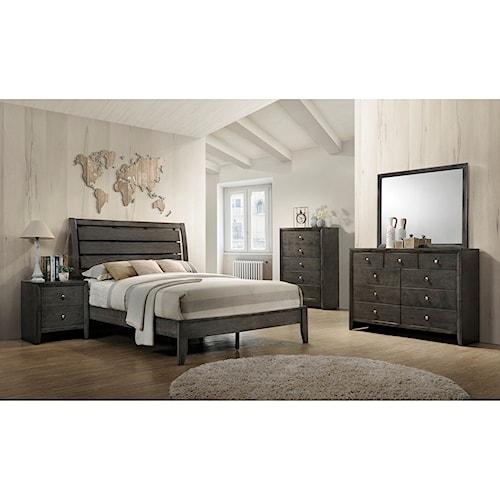 Crown Mark Evan King Bedroom Group