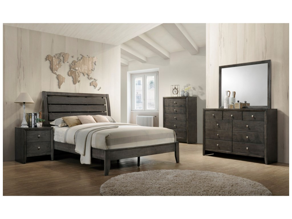 Crown Mark EvanFull Headboard and Footboard Bed