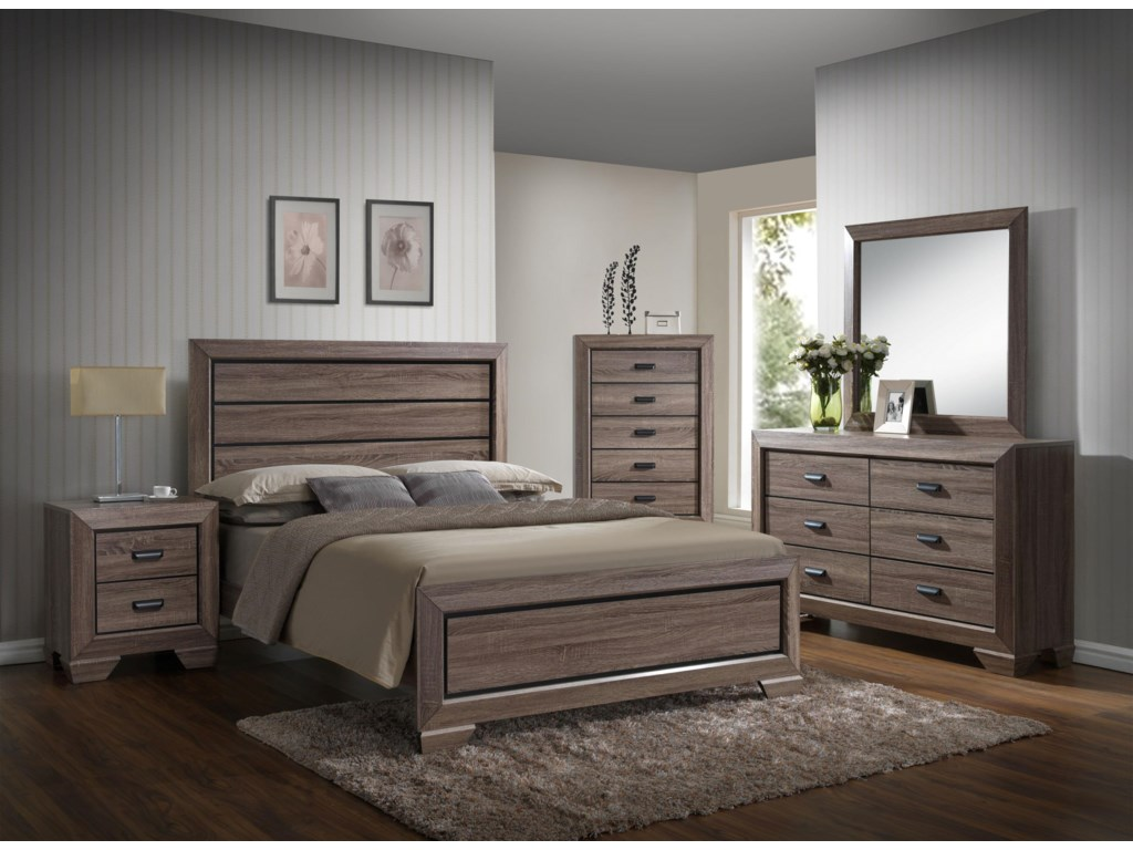 Crown Mark Farrow Queen Bedroom Group | Dunk & Bright Furniture ...