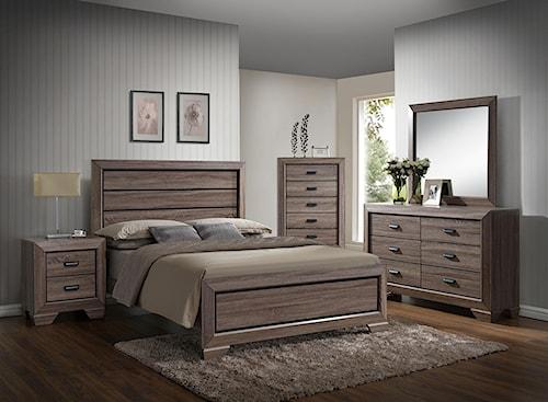 Crown Mark Farrow King Bedroom Group