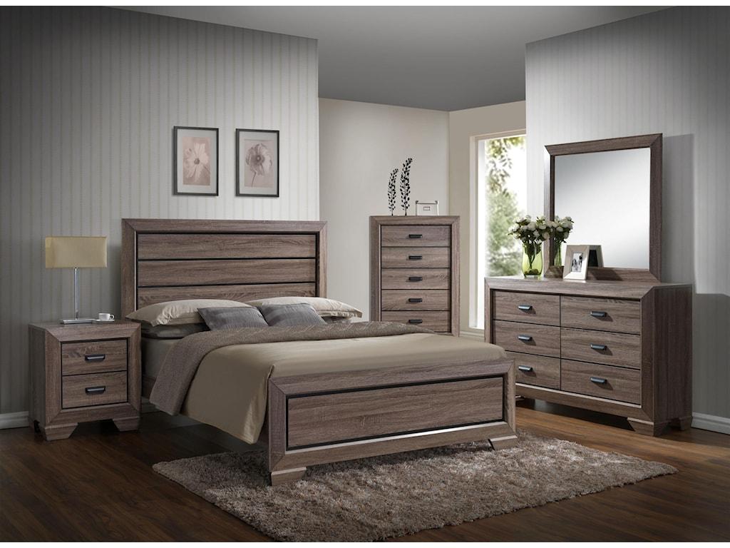 Crown Mark FarrowTwin 5 Piece Bedroom Group