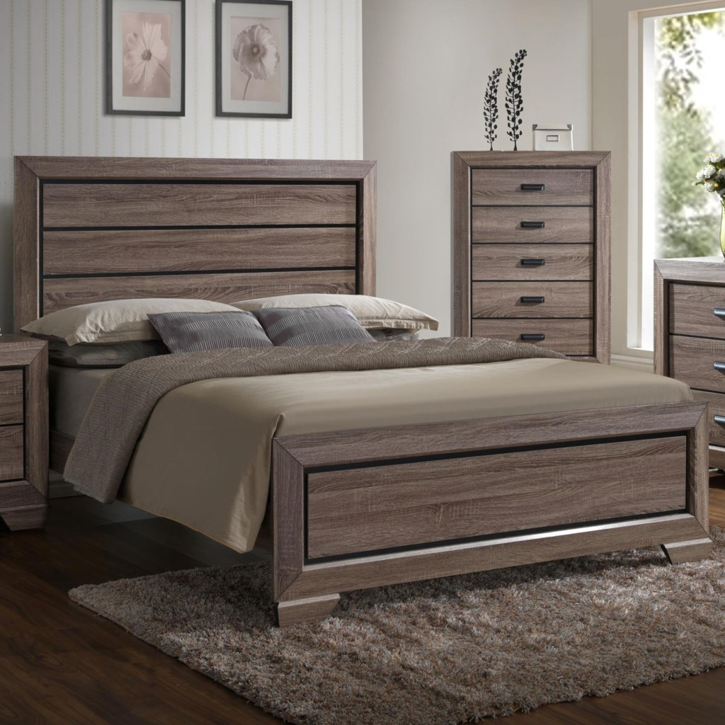 crown mark farrow queen headboard and footboard panel bed royal