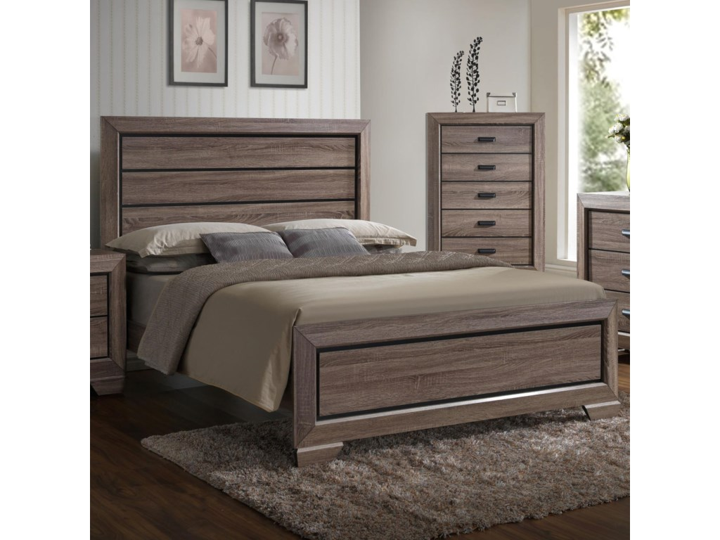 Crown Mark FarrowTwin Headboard and Footboard Bed