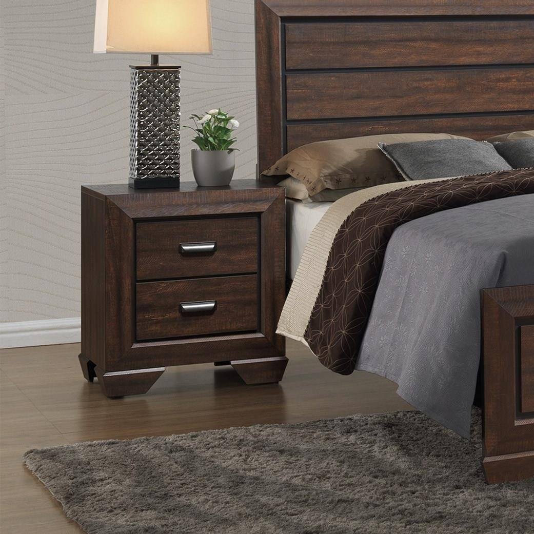Crown Mark Farrow Contemporary Nightstand With Large Frame Royal Furniture Nightstands