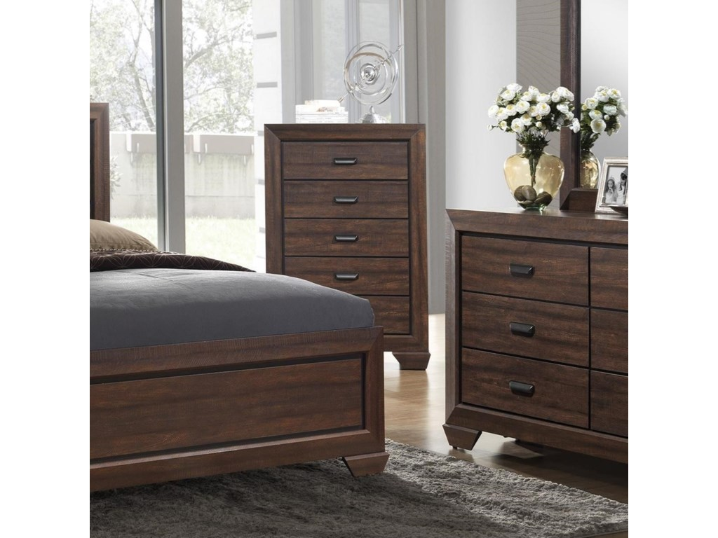 Crown Mark Farrow Transitional Chest of Drawers | Royal Furniture ...