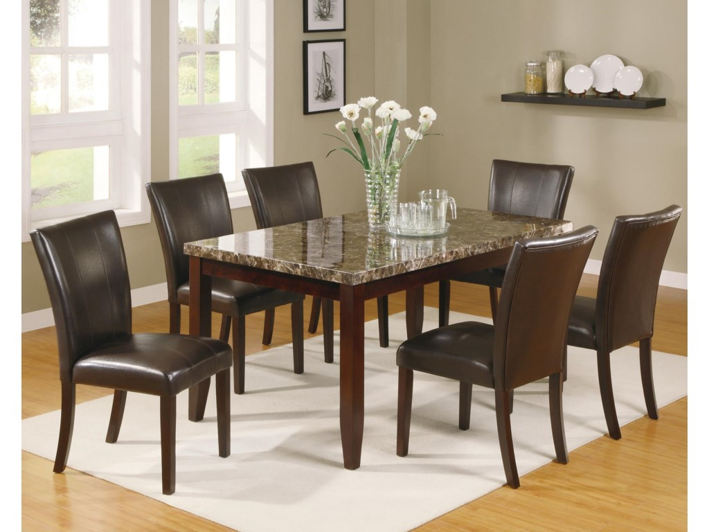 Crown Mark Ferrara7 Piece Dining Table And Chairs Set