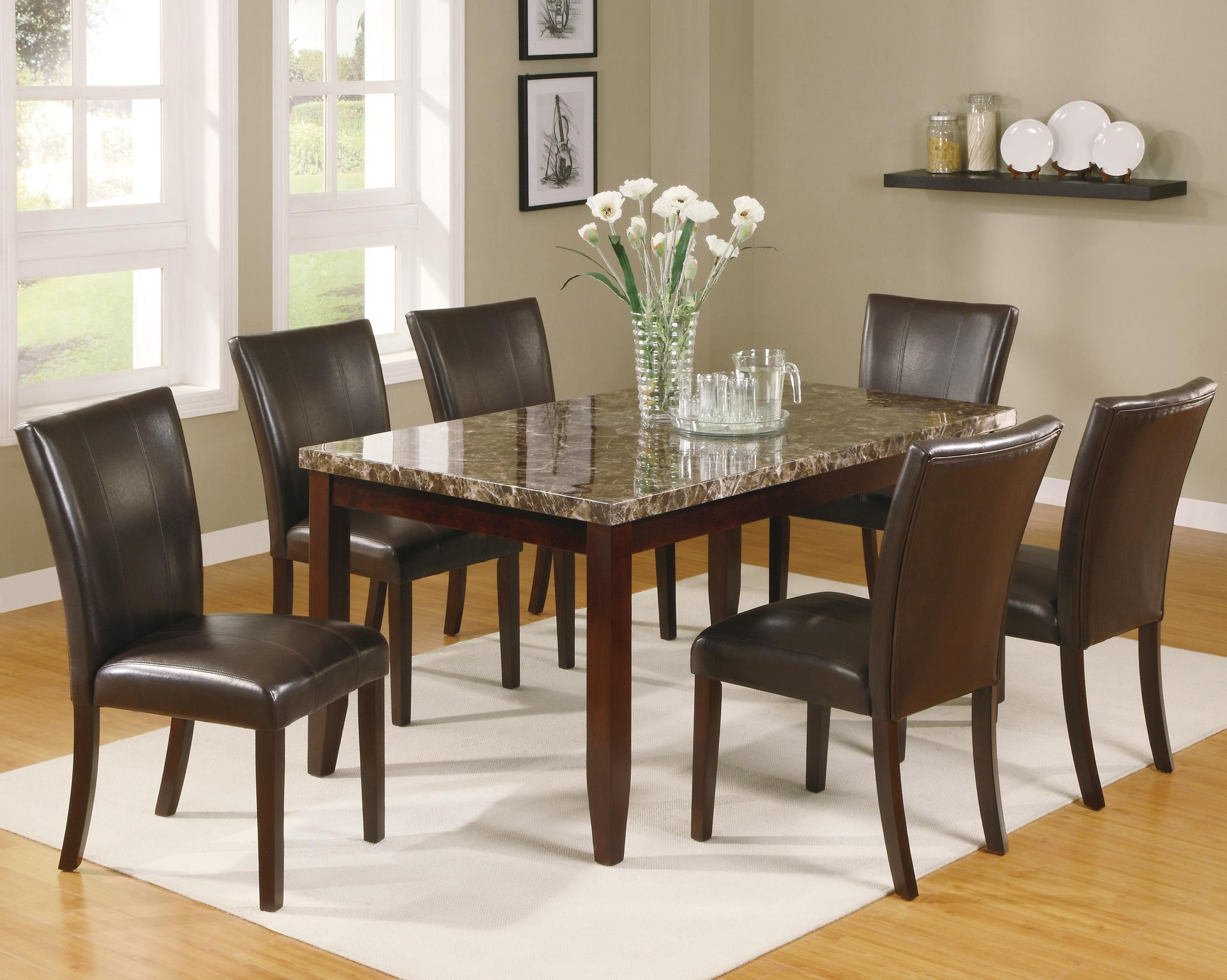 Crown Mark Ferrara 7 Piece Dining Table And Chairs Set   Dunk U0026 Bright  Furniture   Dining 7 (or More) Piece Set Part 53