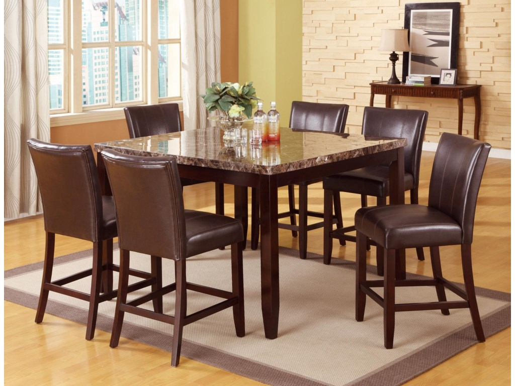 Crown Mark Ferrara7 Piece Pub Table Set