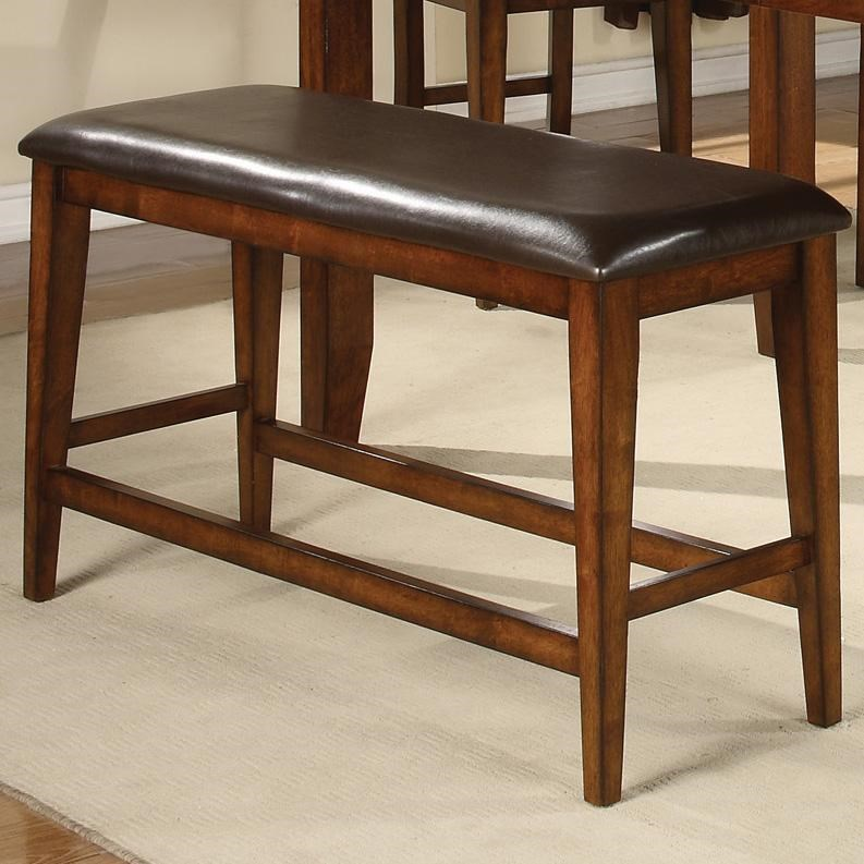 Picture of: Crown Mark Figaro Counter Height Bench With Upholstered Seat Wayside Furniture Dining Benches