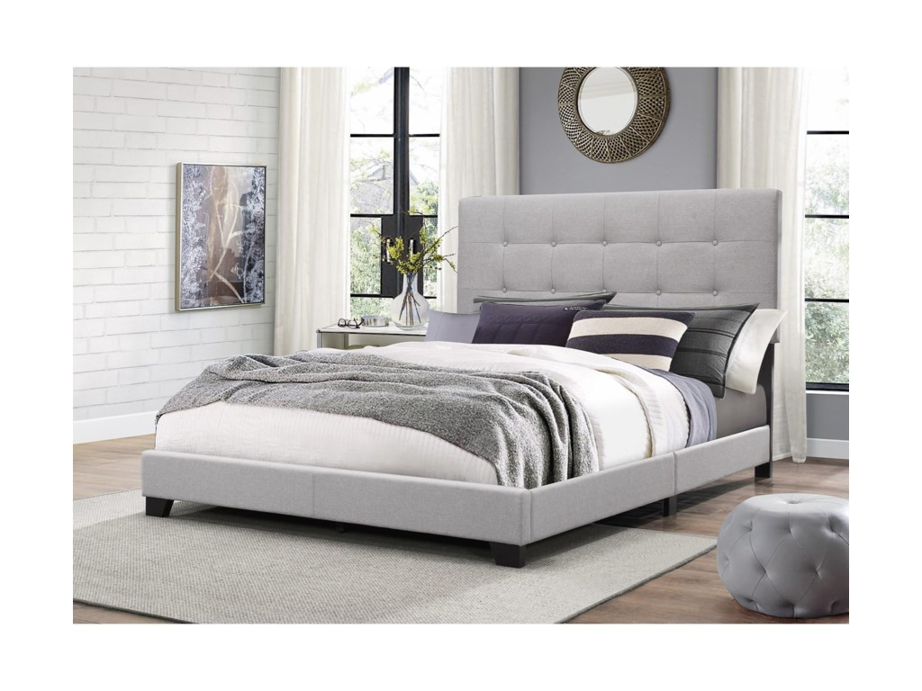 Crown Mark FlorenceTwin Upholstered Bed