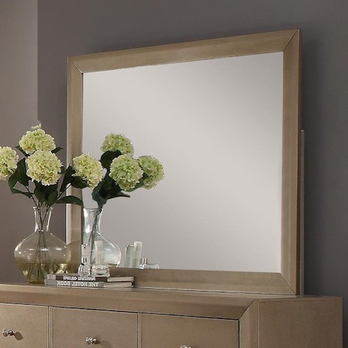 Crown Mark Fontaine Mirror with Golden Metallic Frame