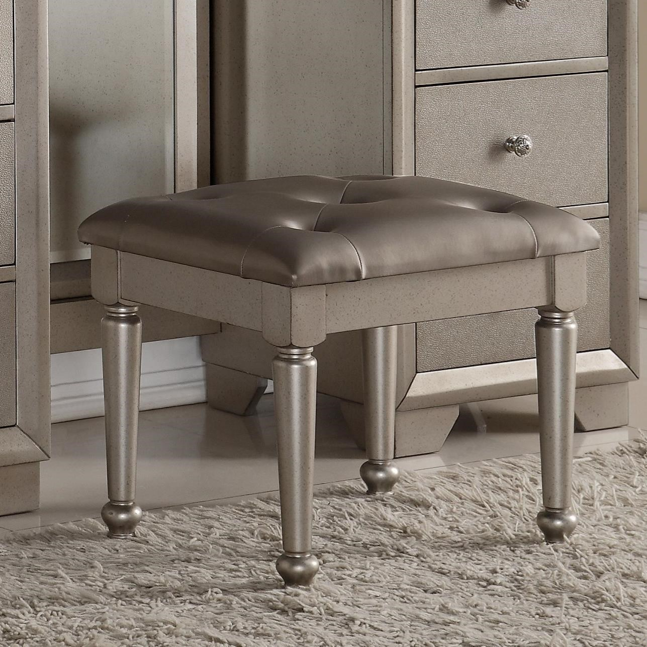 crown mark fontaine glamorous vanity stool dunk u0026 bright furniture vanity chairs