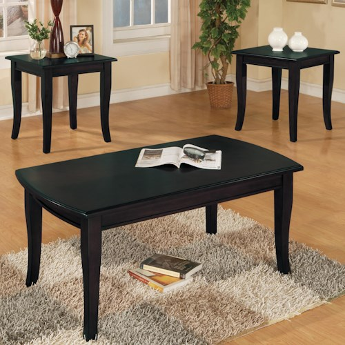 Crown Mark Fremont 3 Piece Cocktail and End Tables Set