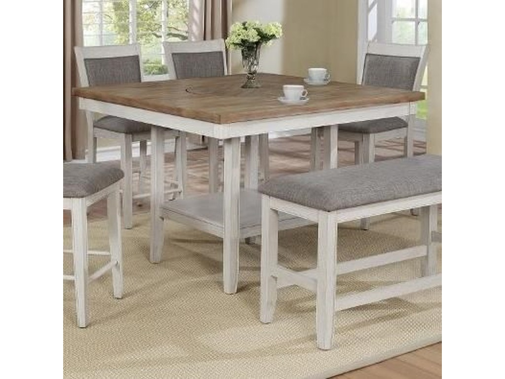 Crown Mark FultonCounter Height Table with Lazy Susan