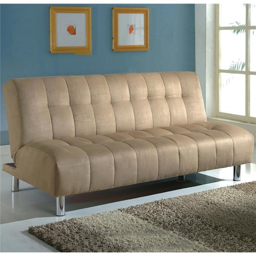 Crown Mark Futons & Daybeds Adjustable Sofa with Tufted Cushion Seating