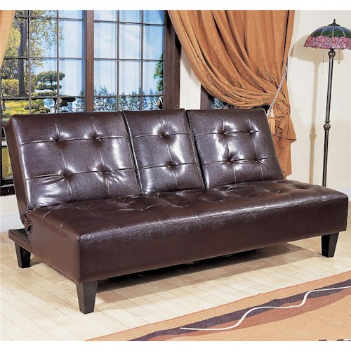 Crown Mark Futons Daybeds Adjule Sofa With Snack Tray