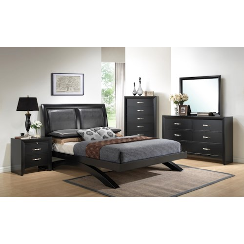 Crown Mark Galinda  King Bedroom Group