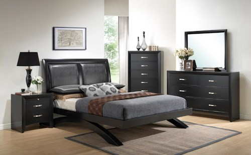 Crown Mark Galinda  Queen Bedroom Group