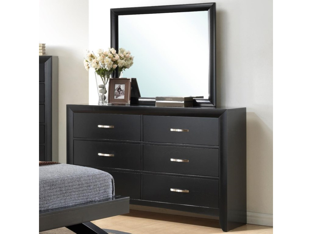 Galinda 6 Drawer Dresser Mirror Combo