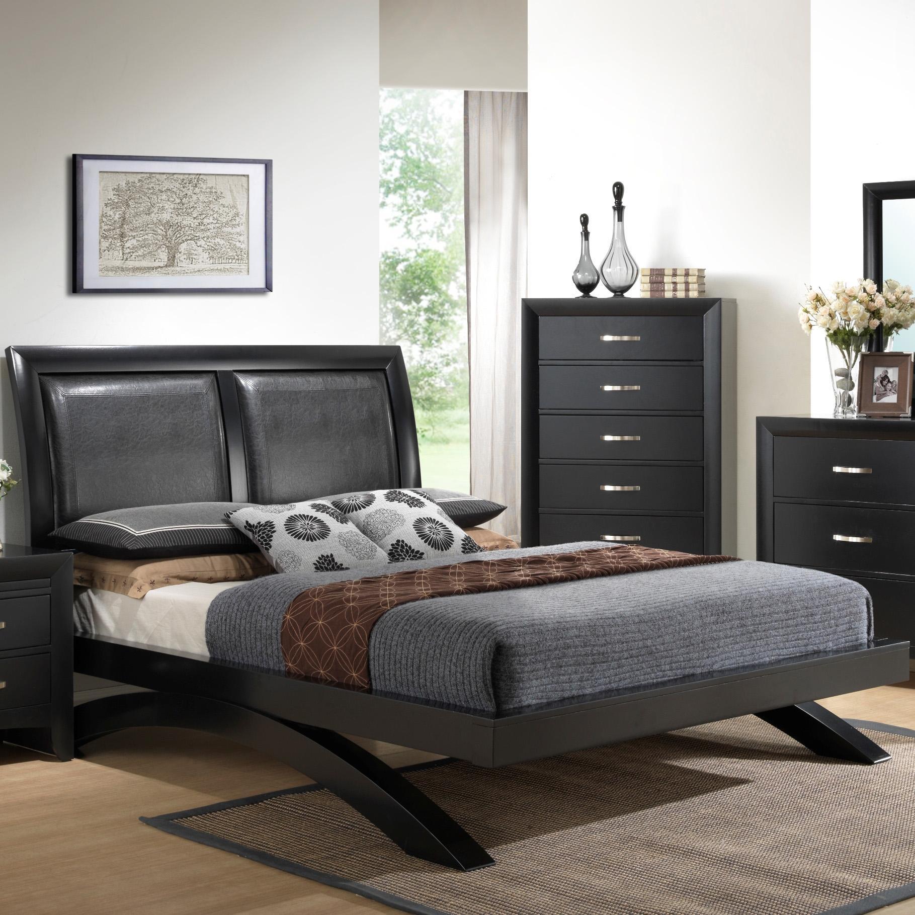 Galinda Queen Headboard Bed