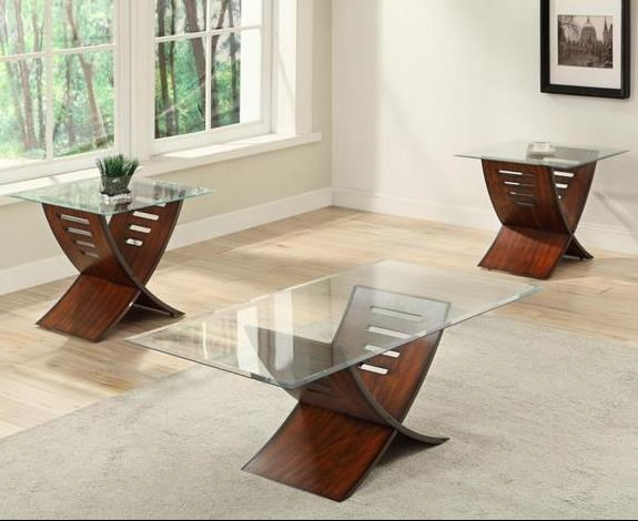 Crown Mark Gemma Contemporary Accent Table Set