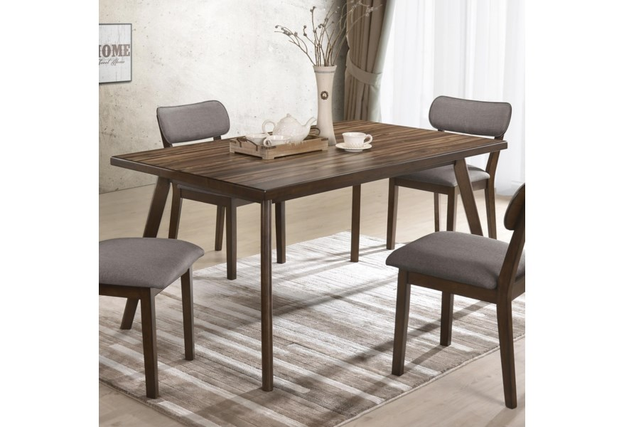Crown Mark Gina 2247T-3659 Mid-Century Modern Dining Table ...