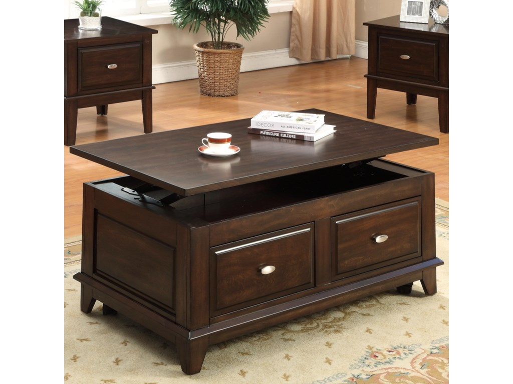 Crown Mark HarmonLift-Top Coffee Table