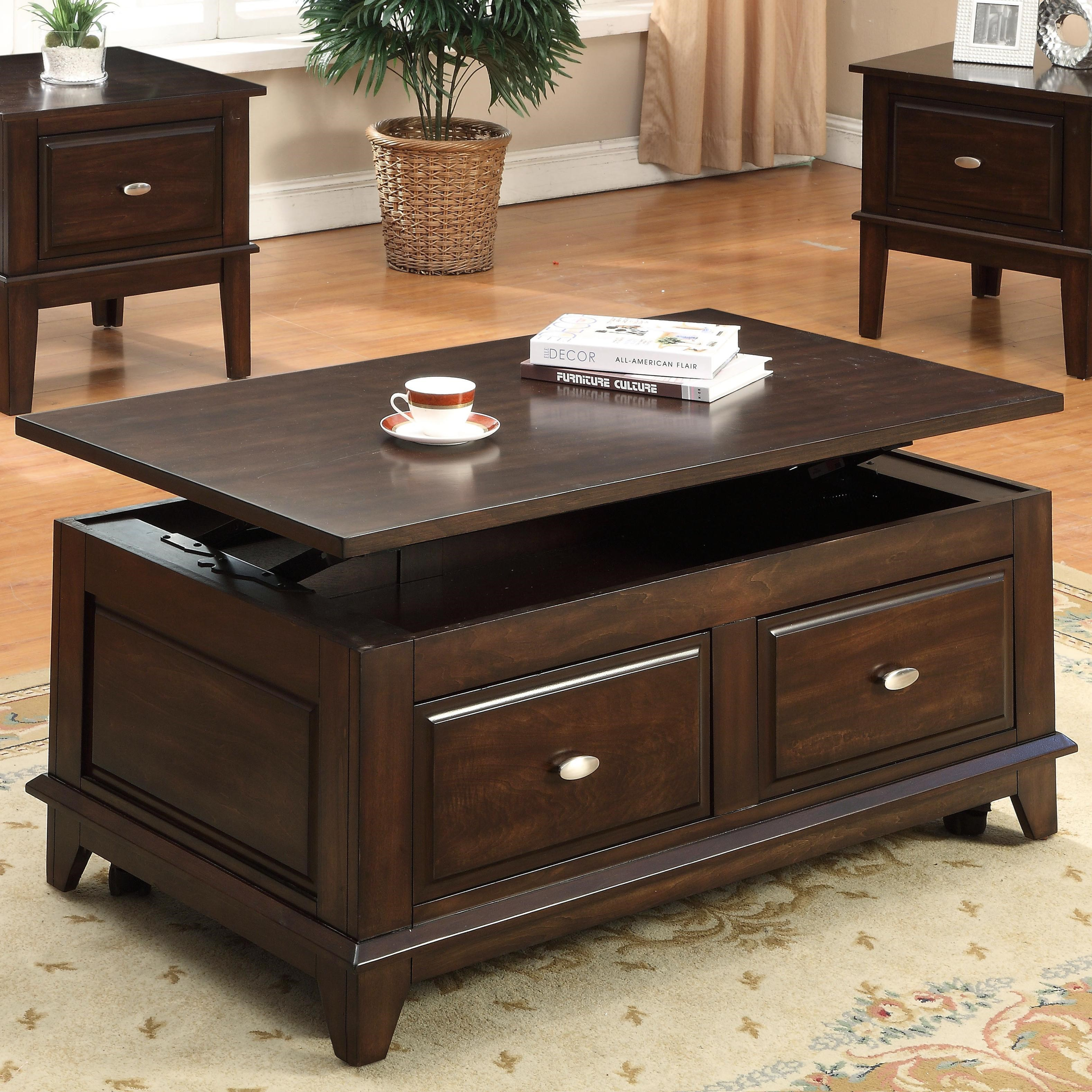 Crown Mark HarmonLift Top Coffee Table ...