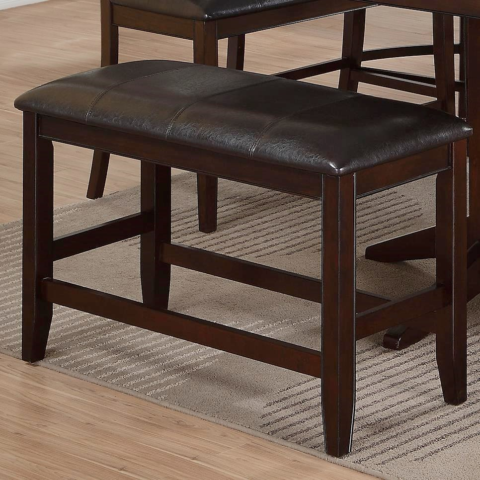 Crown Mark Harrison Counter Height Bench With Upholstered Seat