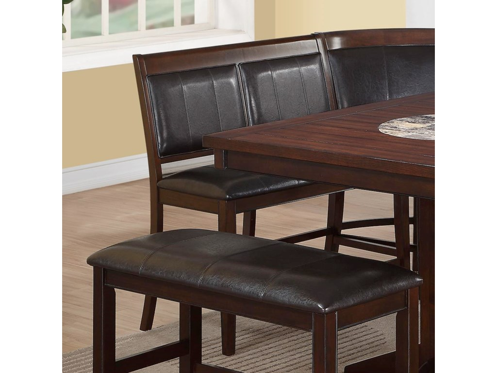 Crown Mark Harrisoncounter Height High Back Bench