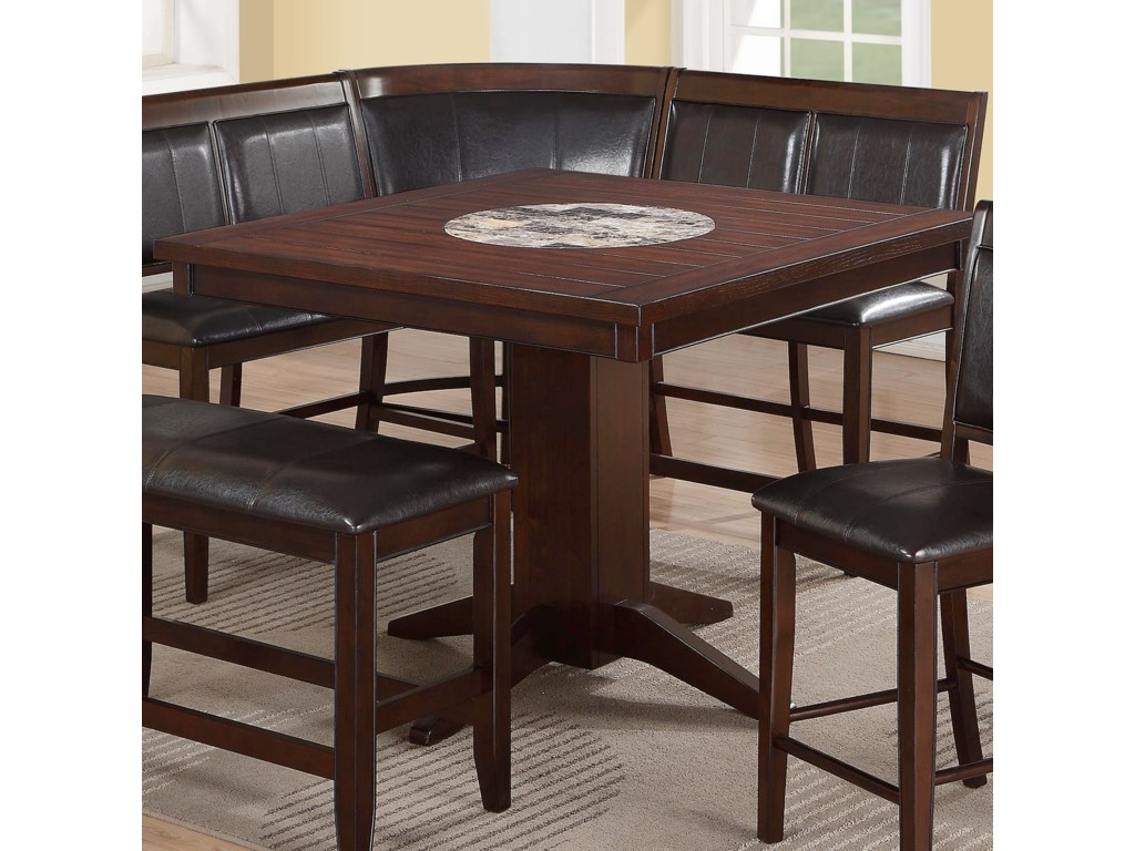 Crown mark harrison counter height table with 22 lazy susan crown mark harrisoncounter height table watchthetrailerfo