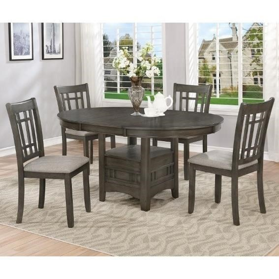 Crown Mark Hartwell Five Piece Dining Set Household Furniture