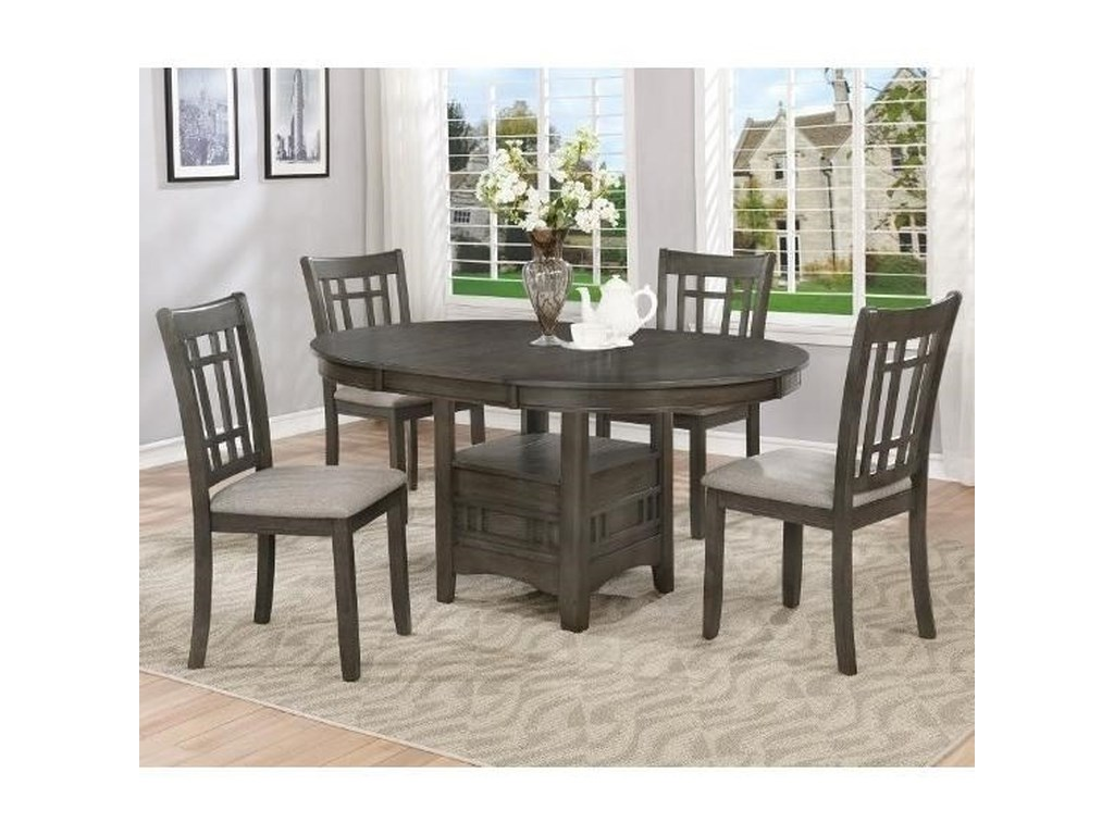 reputable site 3de4d aadd8 Hartwell Five Piece Dining Set by Crown Mark at Wayside Furniture