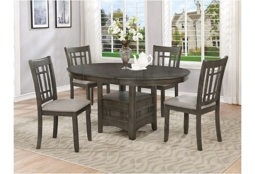 Hartwell Single Pedestal Dining Table By Crown Mark At Dunk Bright Furniture