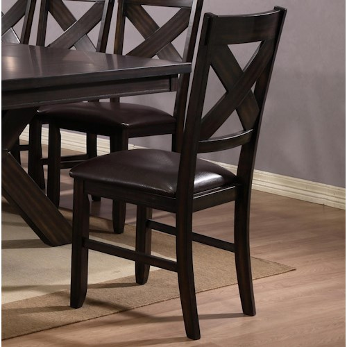 Crown Mark Havana Dining Side Chair with Cushion Seat