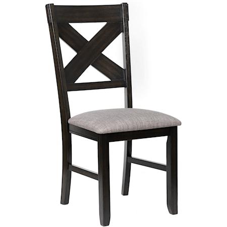 Side Chair Grey Cushion