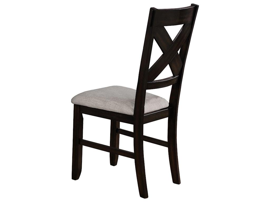 Crown Mark HavanaSide Chair Grey Cushion