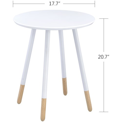 Crown Mark Heidi Contemporary Chairside Table